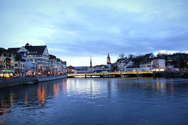 Sunset in Zürich